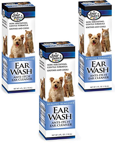 (3 Pack) Four Paws Anti-Itch Ear Wash, 4-Ounce each Ear Wash Anti Itch