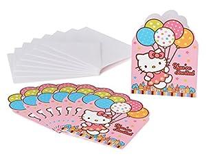 hello kitty party invitations balloon dreams 8 pack party supplies - Hello Kitty Party Invitations