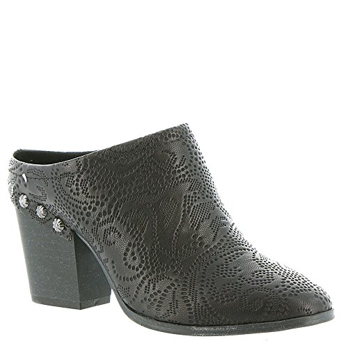 Gore Leather Heels (Easy Street Women's Shiloh Mule, Black Embossed, 7.5 M US)