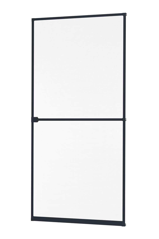 braun oder anthrazit 100 x 210 cm Insektenschutz Fliegengitter T/ür Alurahmen START in wei/ß