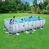 Coleman 18' x 9' x 48'' Power Steel Rectangular Frame AboveGround Swimming Pool