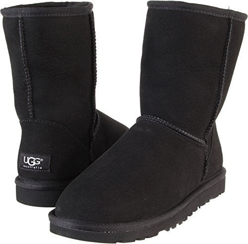 Classic Short Black Ugg Boots - UGG Womens Classic short casual black Suede boot 5.0