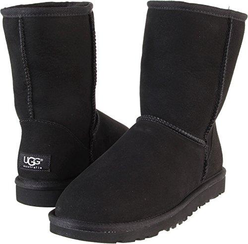 UGG Australia Women's Classic Short Black Sheepskin  Boot - 7 B(M) - Ralph Polo Australia