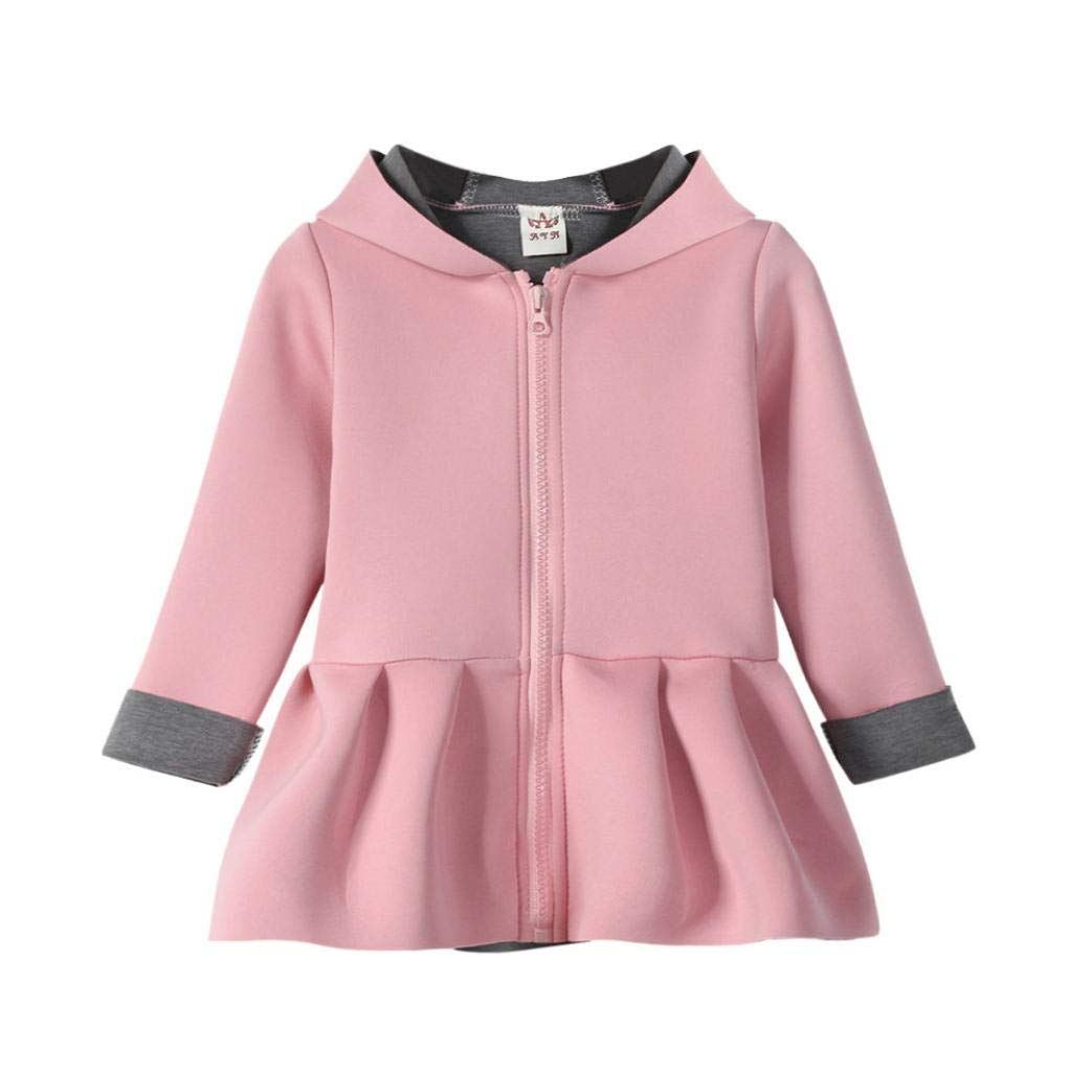Jchen(TM) Clearance! Kid Baby Infant Little Girls Autumn Winter Cute Rabbit Hoodie Coat Warm Outwear Coat for 0-4 Y (Age: 18-24 Months, Pink)