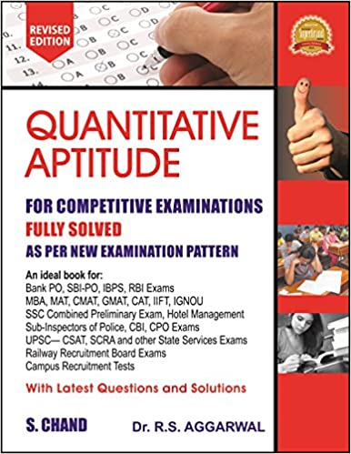 Quantitative Aptitude Competitive Examinations by R S Aggarwal buy at best price