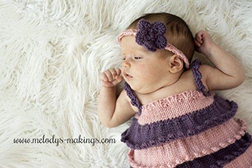 Ruffle Shirt and Rose Headband Set Knitting Pattern