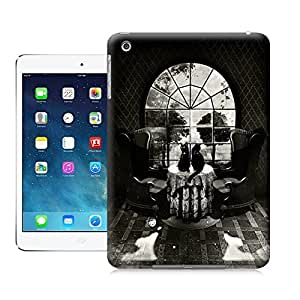 Unique Phone Case Skeleton skull head arts map Room Skull Hard Cover for ipad mini cases-buythecase
