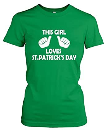 f4067569d Women's This Girl Loves St. Patrick's Day T shirt St Patty's Tee Shirt For  Women