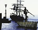 Johnny Depp Pirates of the Caribbean The Curse of the Black Pearl 8x10 Photo Captain Jack on top of mast