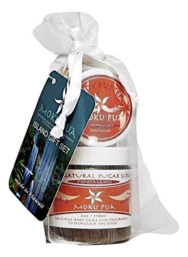 Price comparison product image Moku Pua Natural Body Care, Island Gift Set, Papaya Lilikoi, 3 Items
