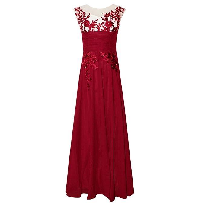 Vestito da sera da donna in tessuto a vista con cinturino all uncinetto  Fiore Lungo da sera abito da damigella d onore Maxi A Line abito da sera a  ... a279bae20eb