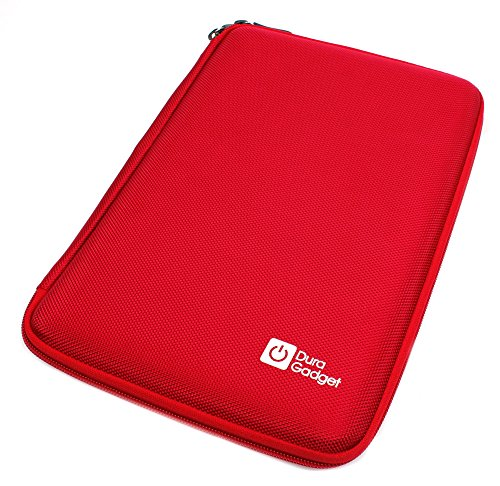Photo - DURAGADGET Red Rigid Protective Zip Armoured Case With Soft Inner Lining & Netted Pocket For Amazon Kindle HDX 8.9""