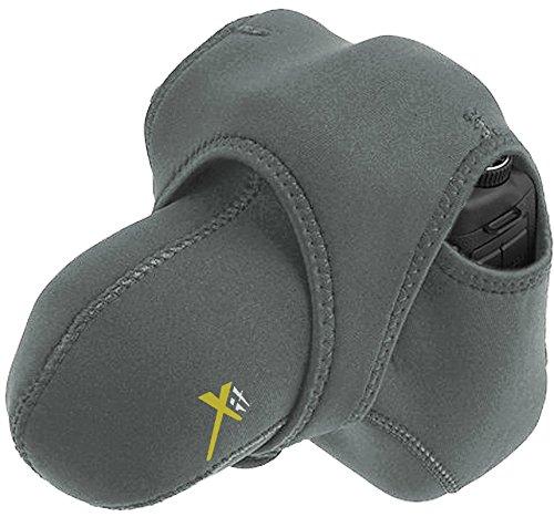 Xit (Grey/Black) Stretchy Reversible Wrap Camera Case for Nikon D7200