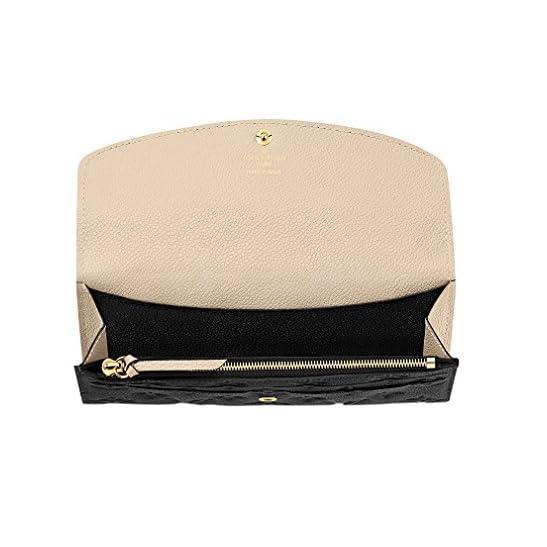 9723132b1c29 Louis Vuitton Monogram Empreinte Leather Emilie Wallet Noir Article ...