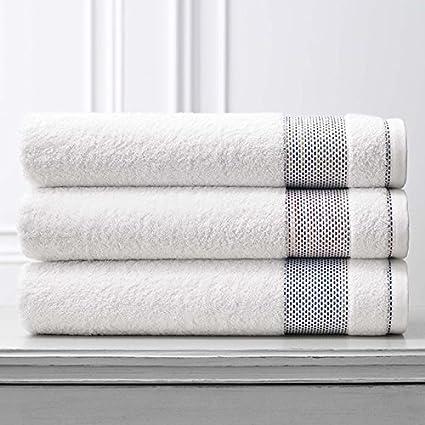 Carnaby Juego de toallas por Kassatex de baño | 95% algodón cardado (cuerpo)