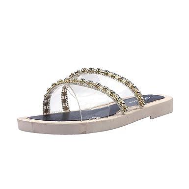 8119888d5 Moonker Women Flat Slides Slippers Summer Shoes Ladies Girls Fashion Bling Open  Toe Non-Slip