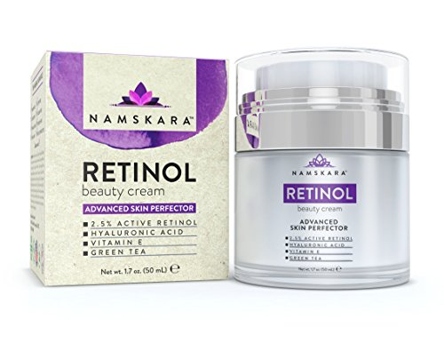 Namskara Retinol Moisturizer Cream with Active 2.5% Retinol & Hyaluronic Acid - Best Night & Day Anti Wrinkle Lotion with Natural & Organic Ingredients to Reduce Crow's Feet & Fine Lines