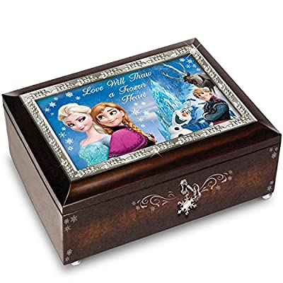 Disney Received Frozen Music Box Bradford Exchange Musicbox - Brown