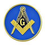 Square & Compass Round Masonic Auto Emblem