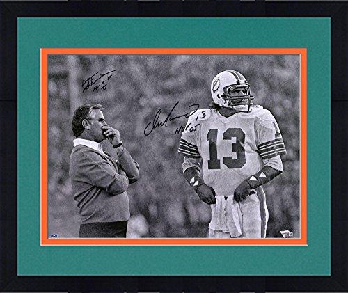 Framed Dan Marino & Don Shula Miami Dolphins Autographed 16