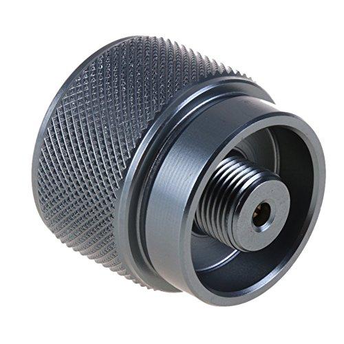 ttnight LPG Adaptor, Convert Adapter, 1lb Propane Small Gas Tank Input EN417 Valve Output Outdoor Camping Stove Convert Cylinder LPG Canister Adapter ()