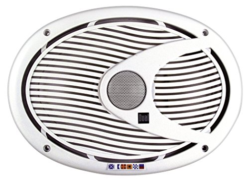 Dual Electronics DMS692 Two 6 x 9 inch 2-Way High Performance Marine Speakers with 25mm Ferrofluid Dome Tweeters and 200 Watts of Peak (Newport Classic Cap)