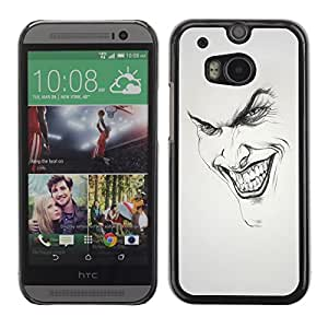 Design for Girls Plastic Cover Case FOR HTC One M8 Joker Grin Face OBBA