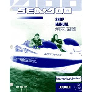 219100137 2001 Sea-Doo Explorer Jet Boat Advantage Manual Supplement