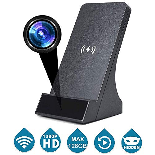 LIZVIE HD Spy Camera WiFi Wireless Mini Hidden Cam Charger with Remote Viewing Night Vision, House Security Cameras Video with Motion Detection, Support iOS Android Apple Phone