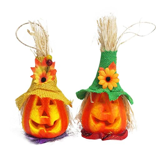 SMYTShop Halloween Party LED Pumpkin Lights Flash Performance Prop Halloween Festival KTV Bar Decor Scarecrow - Scarecrow Halloween Makeup