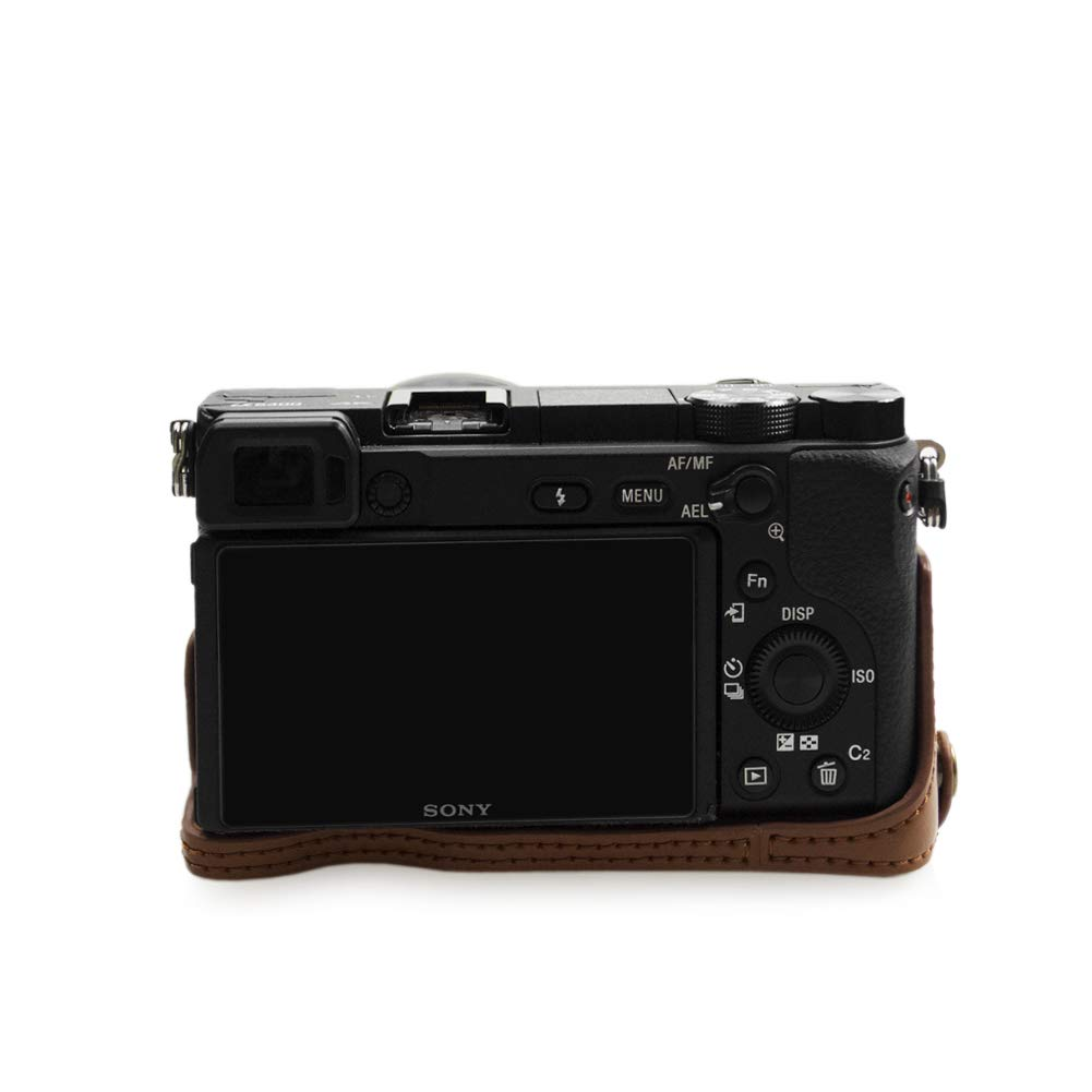 kinokoo Protective Case Bag for SONY A6400 and 16-50mm Lens Camera Case Sony a6400 Case coffee