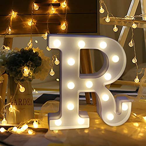 Remote control alphabet lights