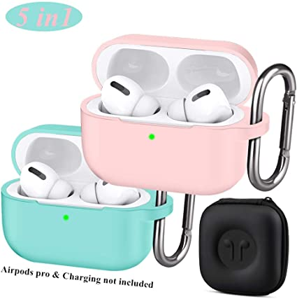 Amazon Com Jeselry 2 Pack Airpods Pro Case Cover With Keychain