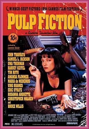 1art1 Pulp Fiction Poster Stampa e Cornice (Plastica) - Affisso, Quentin Tarantino (91 x 61cm) 1art1®