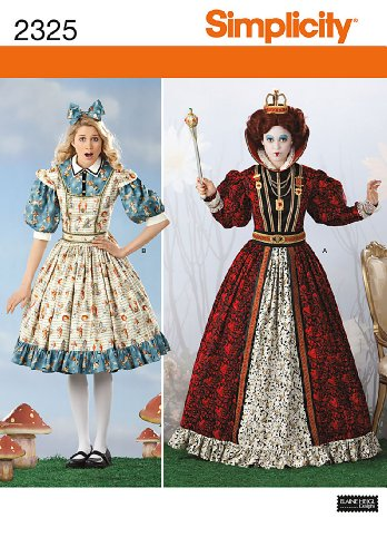 Simplicity Sewing Pattern 2325 Misses' Alice in Wonderland Costumes, R5 (Alice In Wonderland Costume Pattern)
