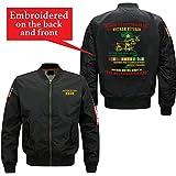 Familyloves WE were The Best America Had Vietnam Veteran Embroidered Jacket (Large, Black)