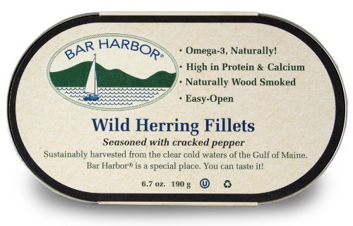 - Bar Harbor 6 x 6.7oz All Natural Smoked Wild Herring Fillets Seasoned with Cracked Pepper by Bar Harbor