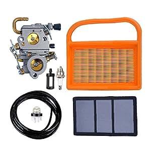 Salvador carburador con filtro de aire y bujía combustible línea primer bombilla Filtro de combustible para STIHL TS410TS420sierra de cortar