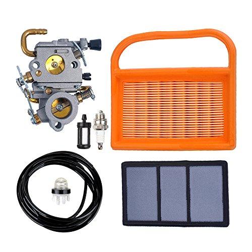 Savior Carburetor with Air Filter Spark Plug Fuel Line Primer Bulb Fuel Filter for Stihl TS410 TS420 Cut Off Saw (Kit Cut)