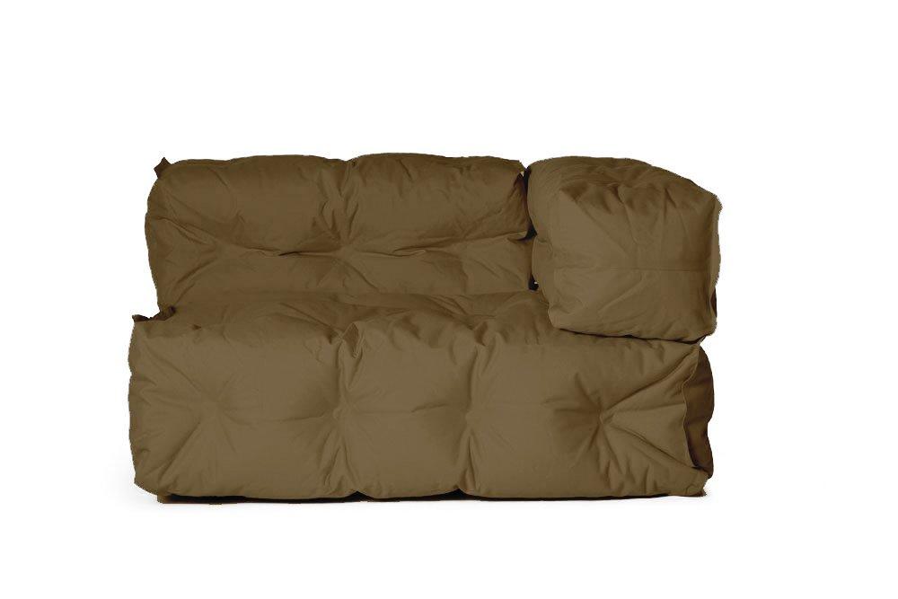 Outdoor Couch II von Sitting Bull, 127 x 73 x 89cm, ausgeklappt 155 x 73 x 89cm, braun-grau