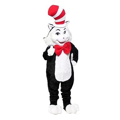 Amazon.com: KF Dr. Seuss Gato en el sombrero Disfraz Adulto ...