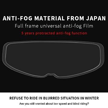 Film lente antiappannamento casco per moto integrali casco visiera film