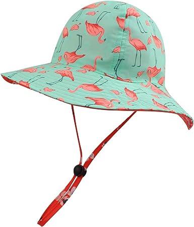 Toddler Kid Baby Girl Outdoor Sun Hat Brim Summer Bucket Hats Beach Headwear