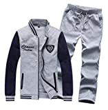 QualityUC Mens Apparel Fashion Clothes American Style Gym Jacket Pants Set