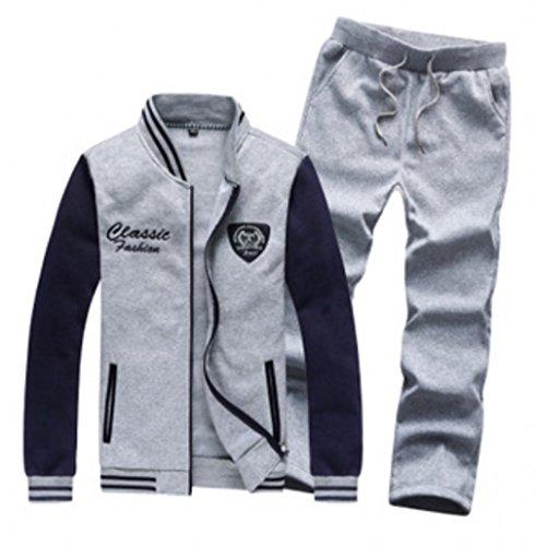 QualityUC Mens Apparel Fashion Clothes American Style Gym Jacket Pants Set