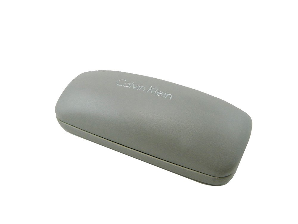 New CK Calvin Klein Hard Clam Shell Vinyl Sunglasses / Eyeglasses Case - Grey by Calvin Klein