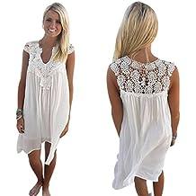 BeautyVan Clearance Deals ! Women Dress 2018 Sexy Sunmer Dress for Women Boho Sleeveless Womens Loose Summer Beach Lace Dress