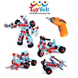 ToyVelt STEM Learning Take apart Educational Construction Engineering w ELECTRIC Toy DRILL Building Blocks Set - for 3, 4 and 5+ Year Old Boys & Girls. - The Best Toy Gift for Kids Ages 3 - 12 yrs old