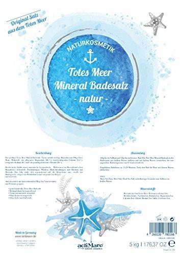 Mar Muerto Mineral Sales de baño 5 kg en bolsa de Stand | de actimare Natural Cosmetics: Amazon.es: Belleza