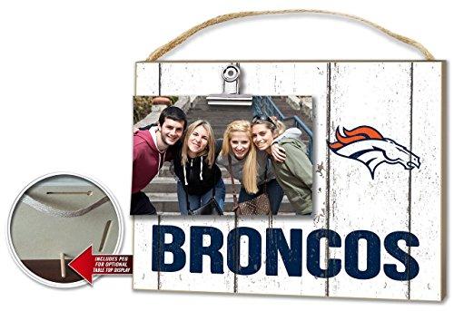 KH Sports Denver Broncos Weathered Clip-It Photo Frame
